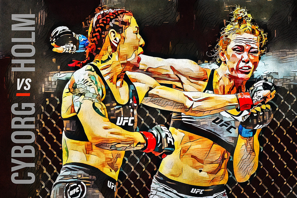 Cris Cyborg vs Holly Holm Sport Art MMA UFC Poster