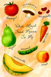 Fruits and Vegetables Kitchen Poster