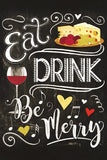 Eat Drink and Be Merry Kitchen Poster
