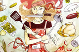 Woman Funny Kitchen Poster