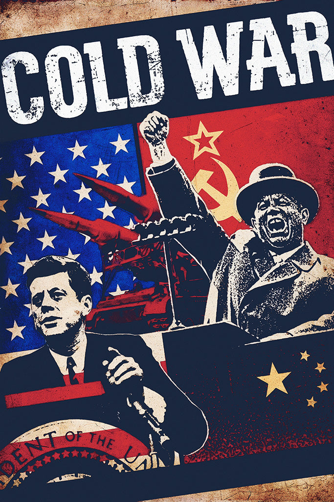 Military Propaganda Cold War Poster
