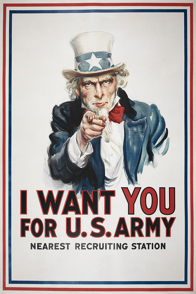 Military Propaganda I Want You Poster
