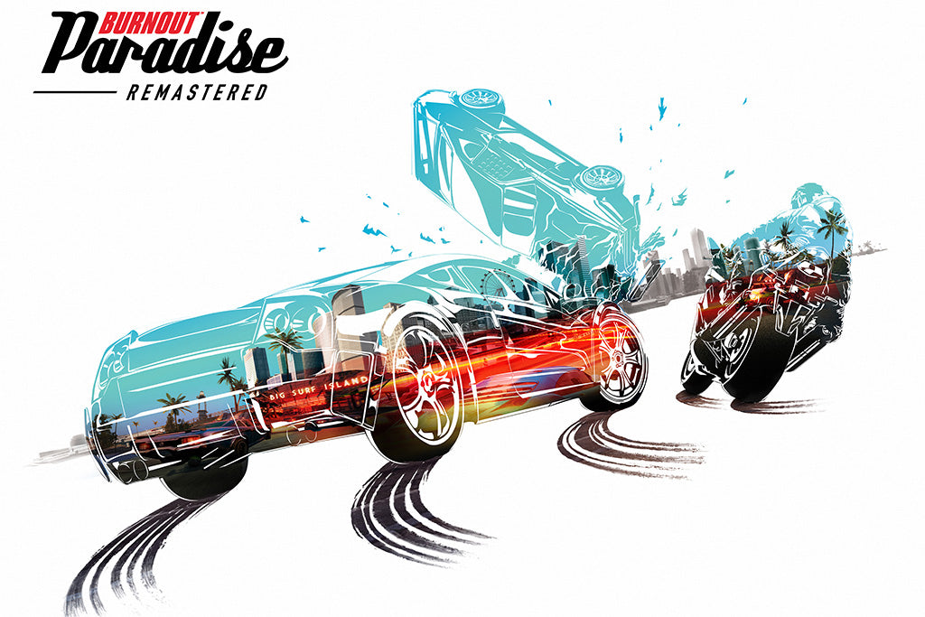 Burnout Paradise Remastered Game Poster
