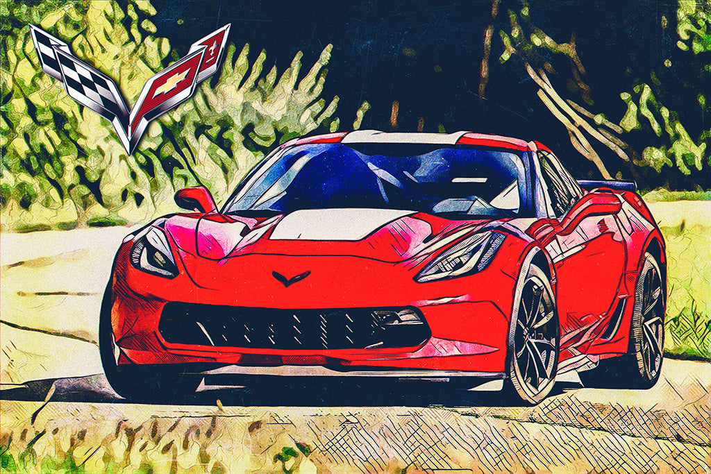 Chevrolet Corvette Sport Car Poster