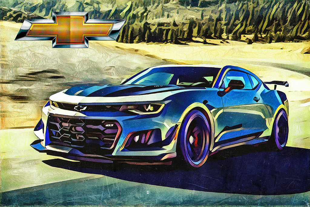 Chevrolet Camaro Zl1 Sport Car Poster My Hot Posters