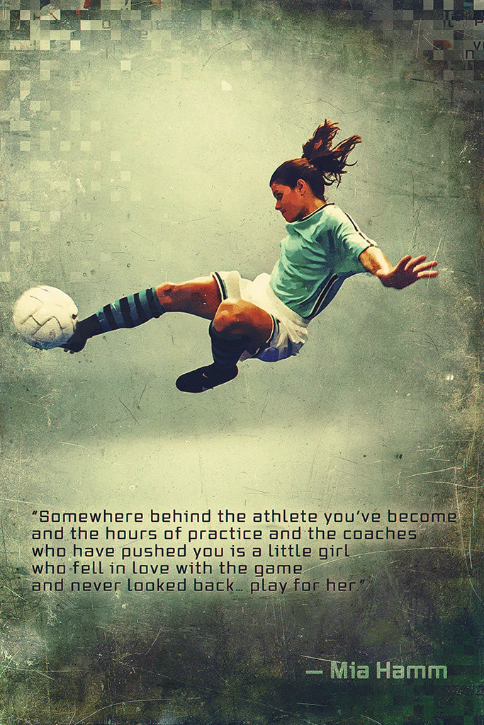 Mia Hamm Quotes Poster