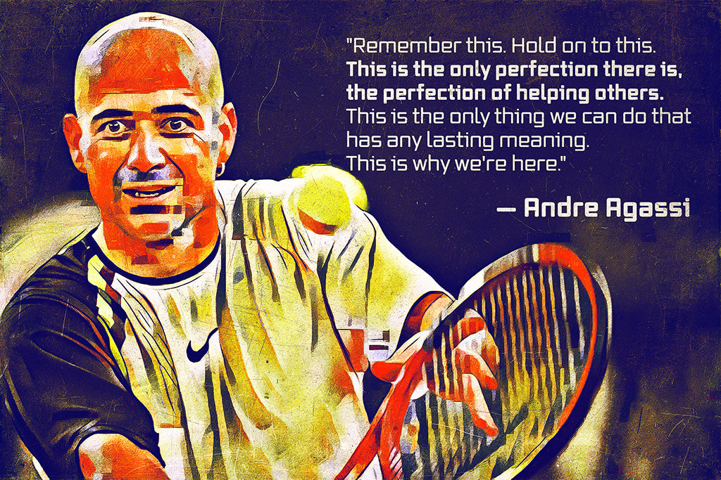 Andre Agassi Quotes Poster