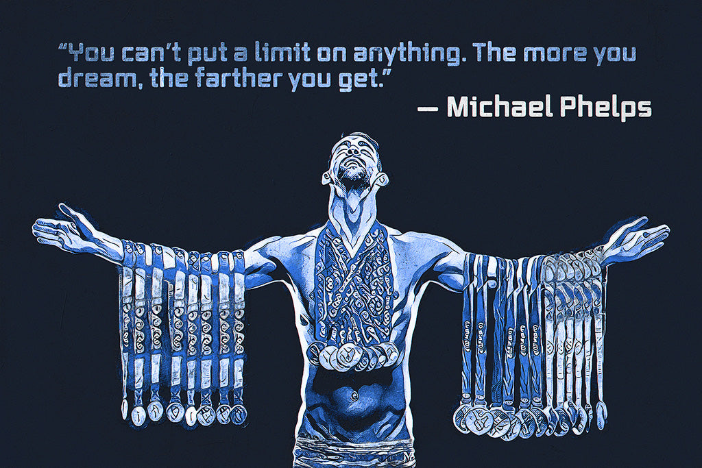 Michael Phelps Quotes Poster