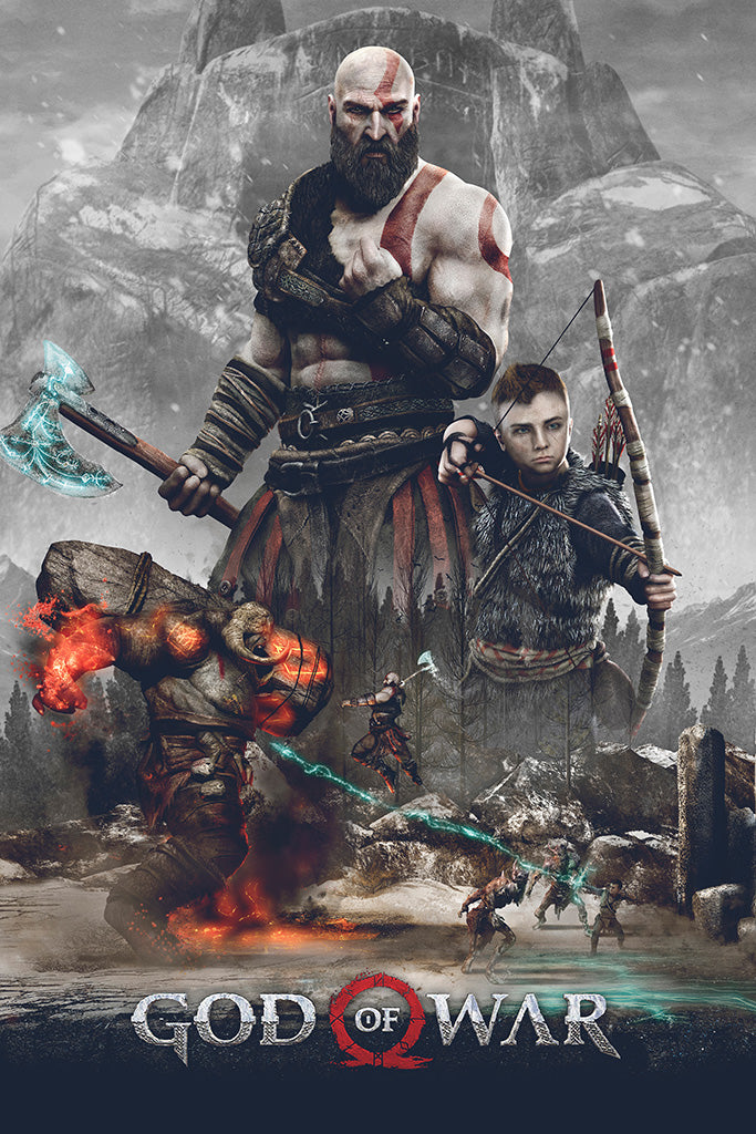 God of War 2018 Game Poster