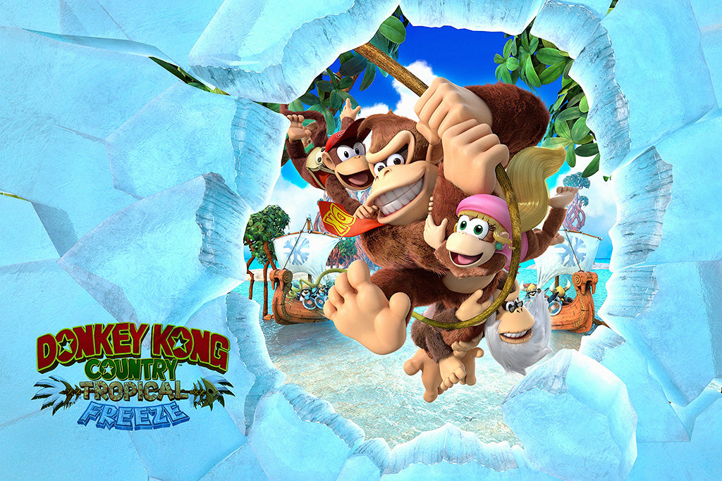 Donkey Kong Country Tropical Freeze Game Poster 2018