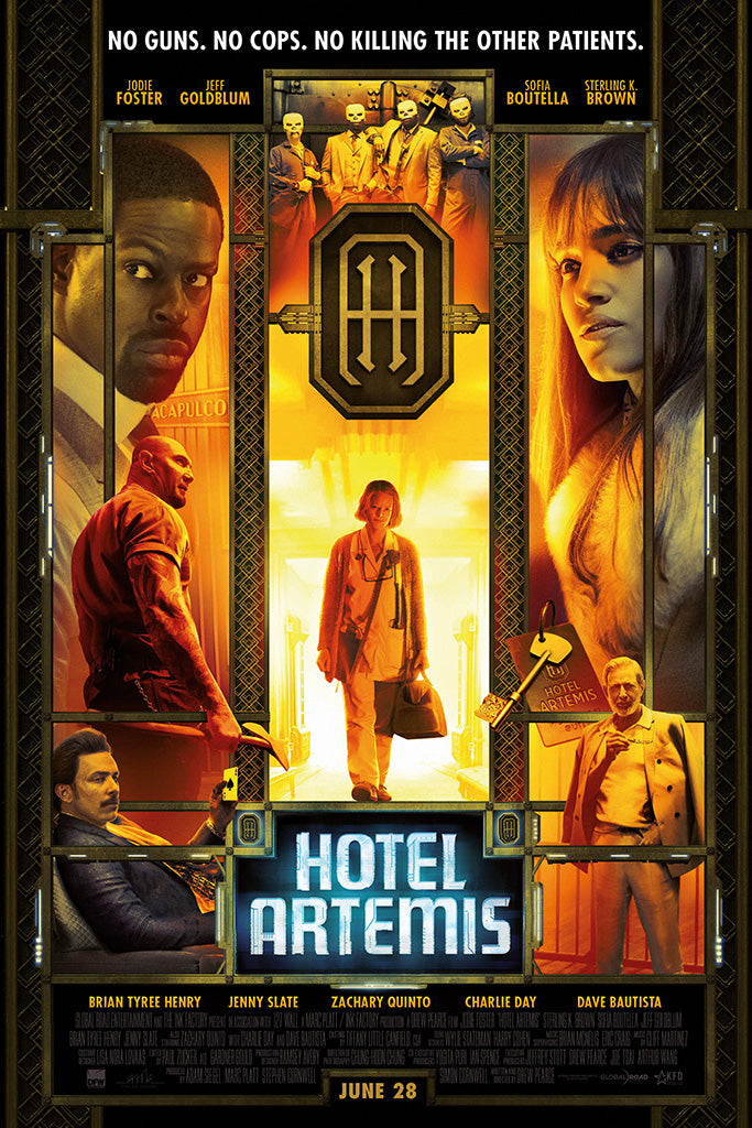 Hotel Artemis Movie Poster June 2018