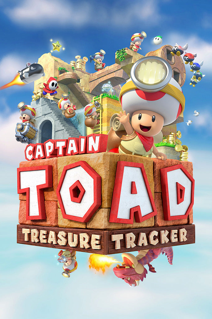 Captain Toad Treasure Tracker Games Poster