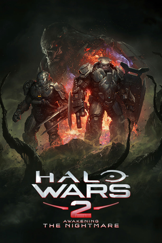 Halo Wars 2 Awakening the Nightmare Games Poster