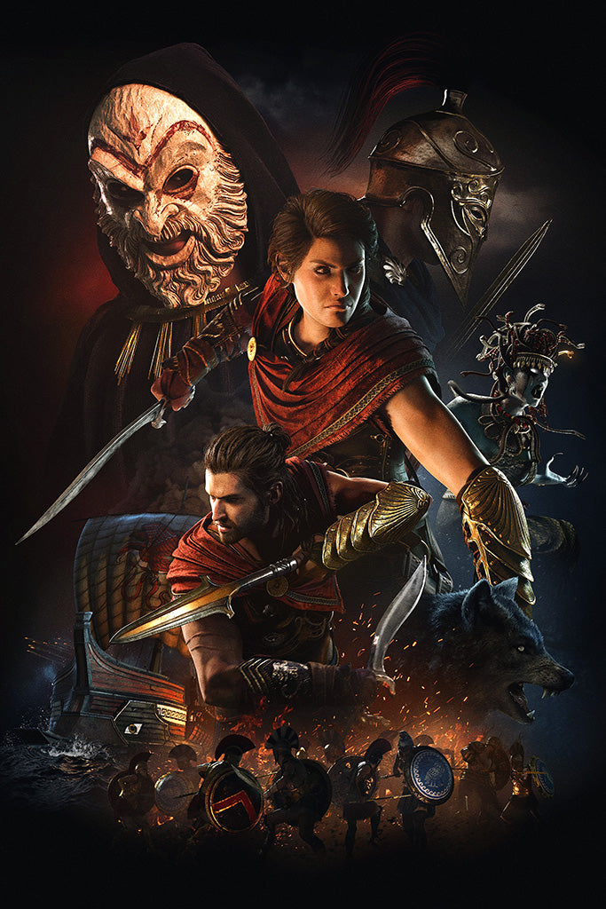 Assassin's Creed Odyssey Video Game Poster