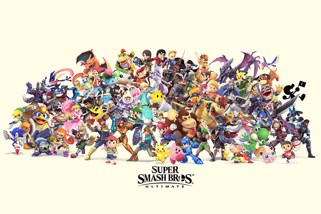 Super Smash Bros  Ultimate Video Game Poster