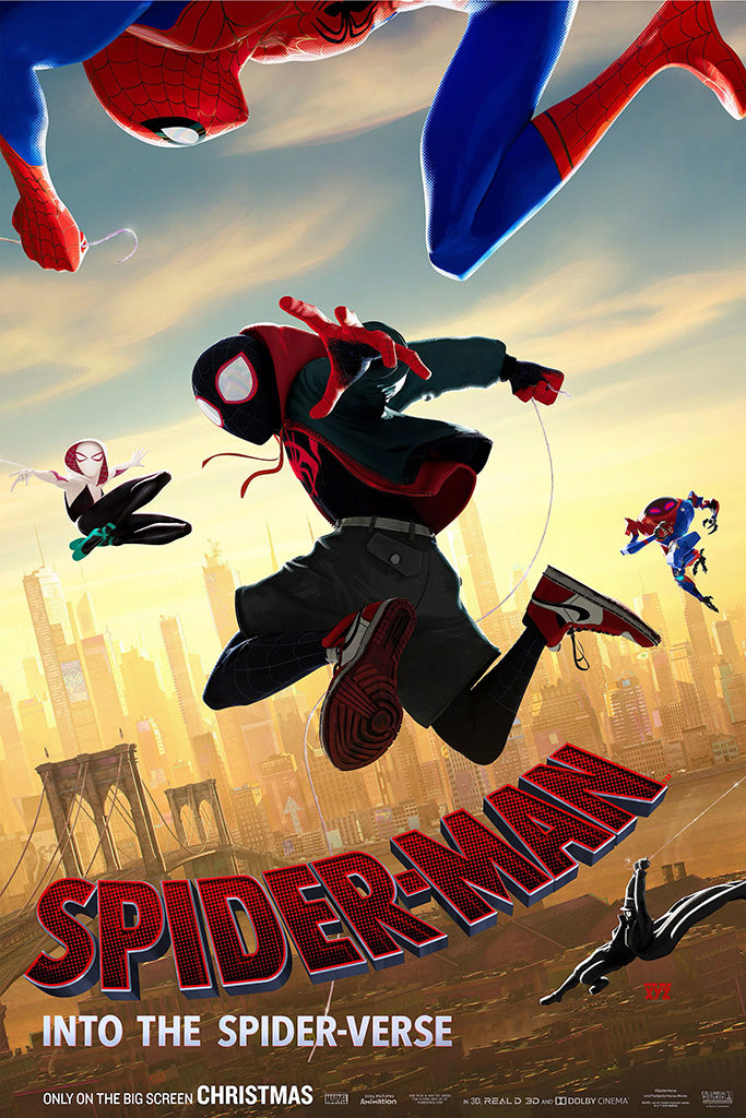 Spider Man Into The Spider Verse Film Poster