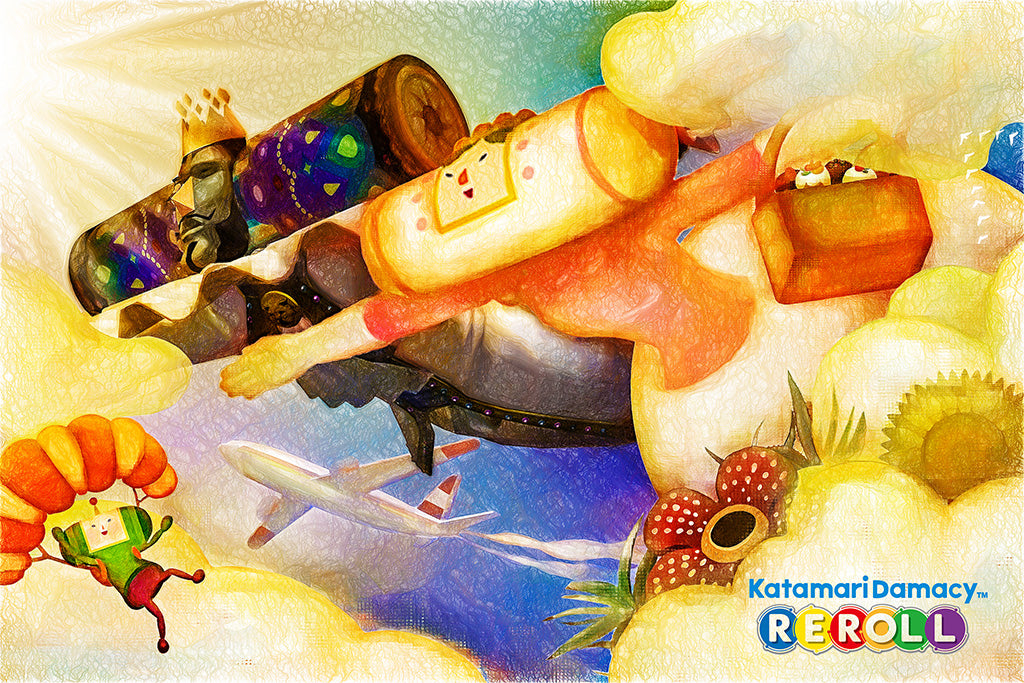 Katamari Damacy Reroll Video Game Poster