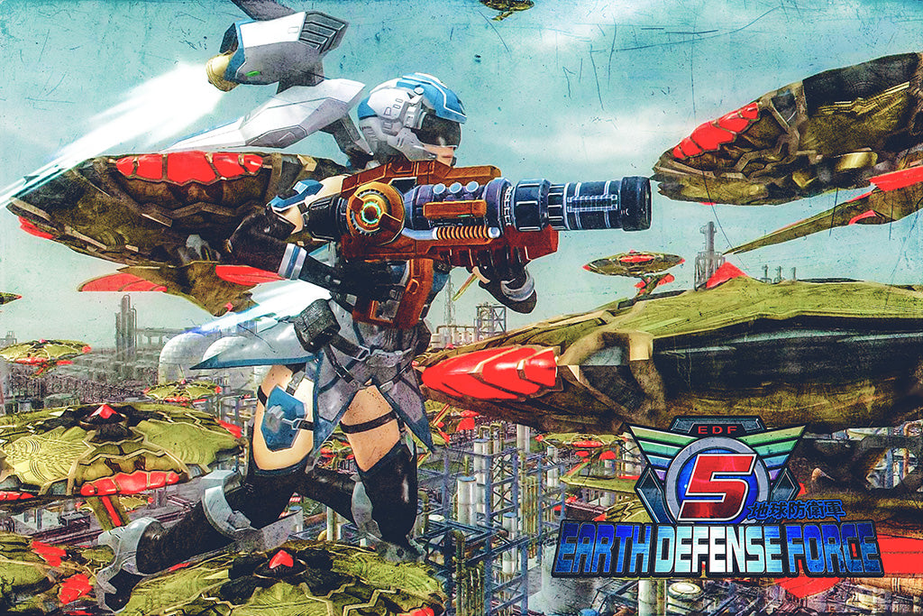 Earth Defense Force 5 Video Game Poster