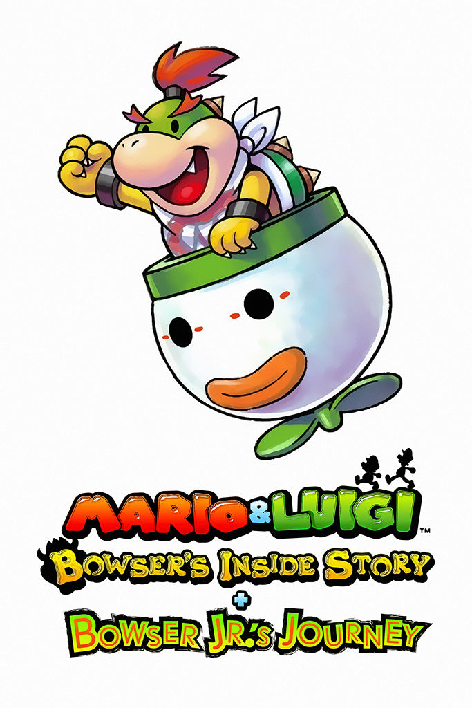 Mario And Luigi Bowser's Inside Story + Bowser Jr.'s Journey Video Game Poster
