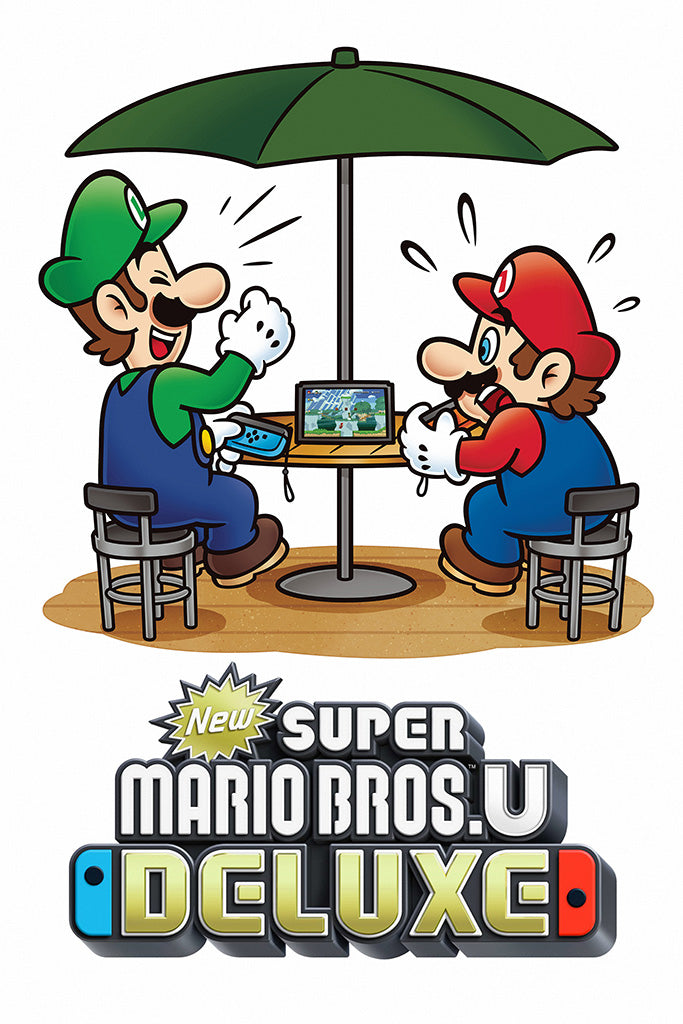 New Super Mario Bros U Deluxe Video Game Poster