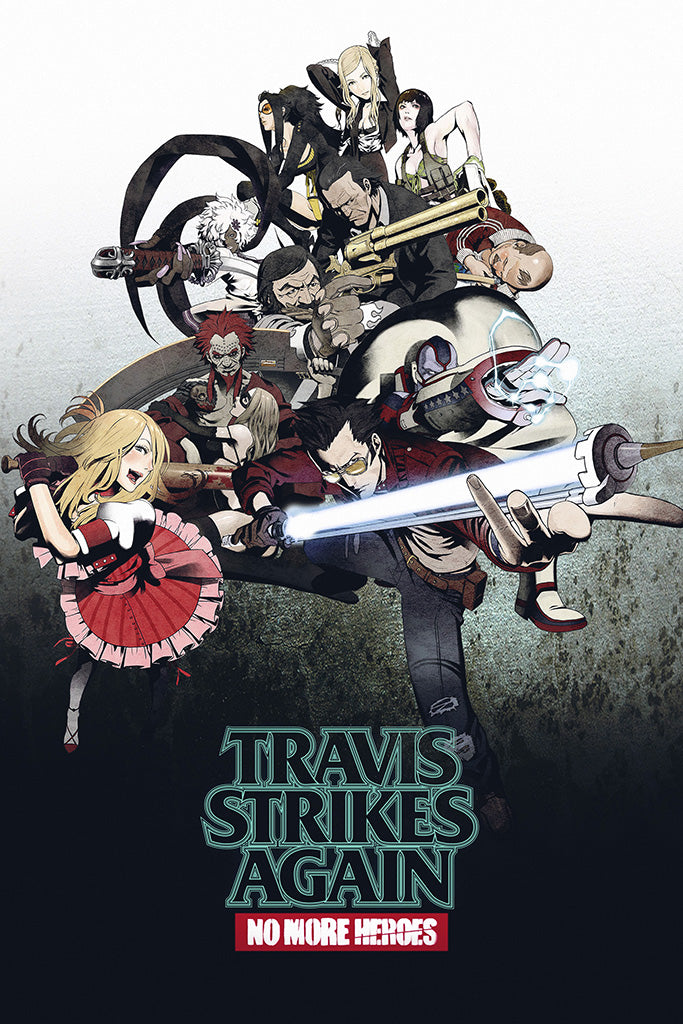 Travis Strikes Again No More Heroes Game Poster
