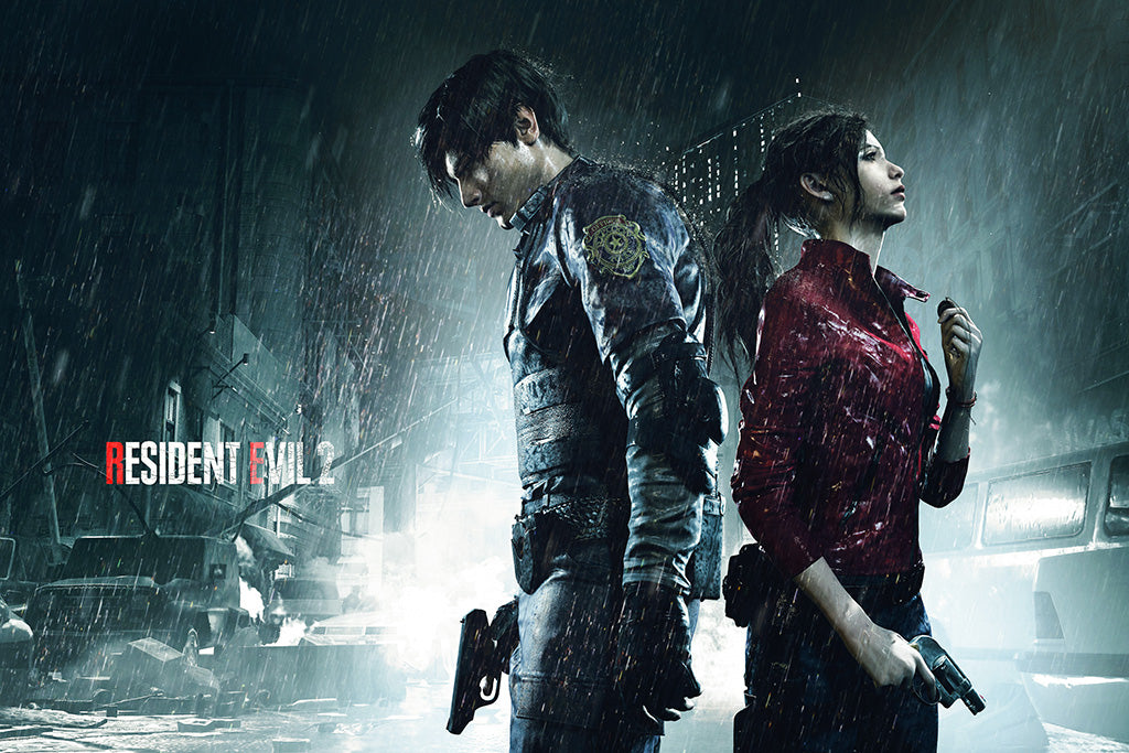 Resident Evil 2 Remake Video Game Poster