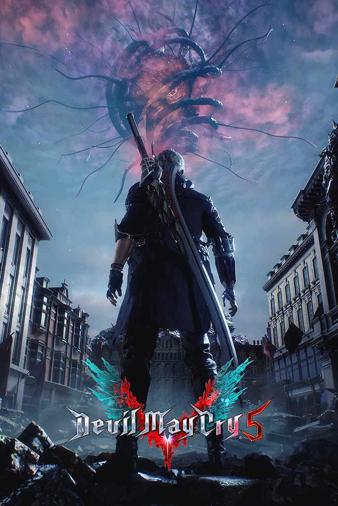 Devil May Cry 5 Video Game Poster