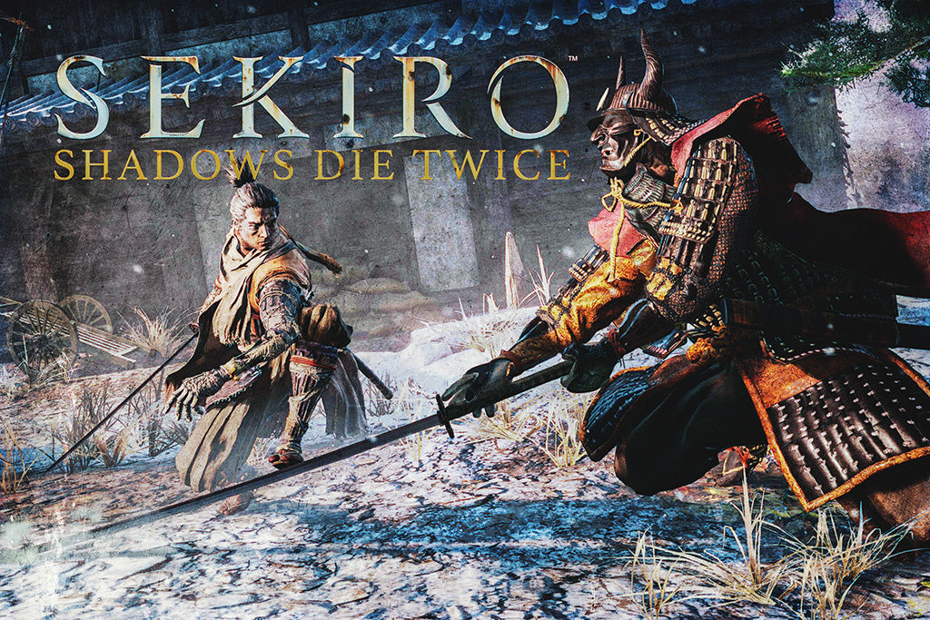 Sekiro Shadows Die Twice Video Game Poster