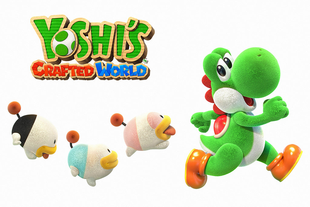 Yoshi's Crafted World Video Game Poster