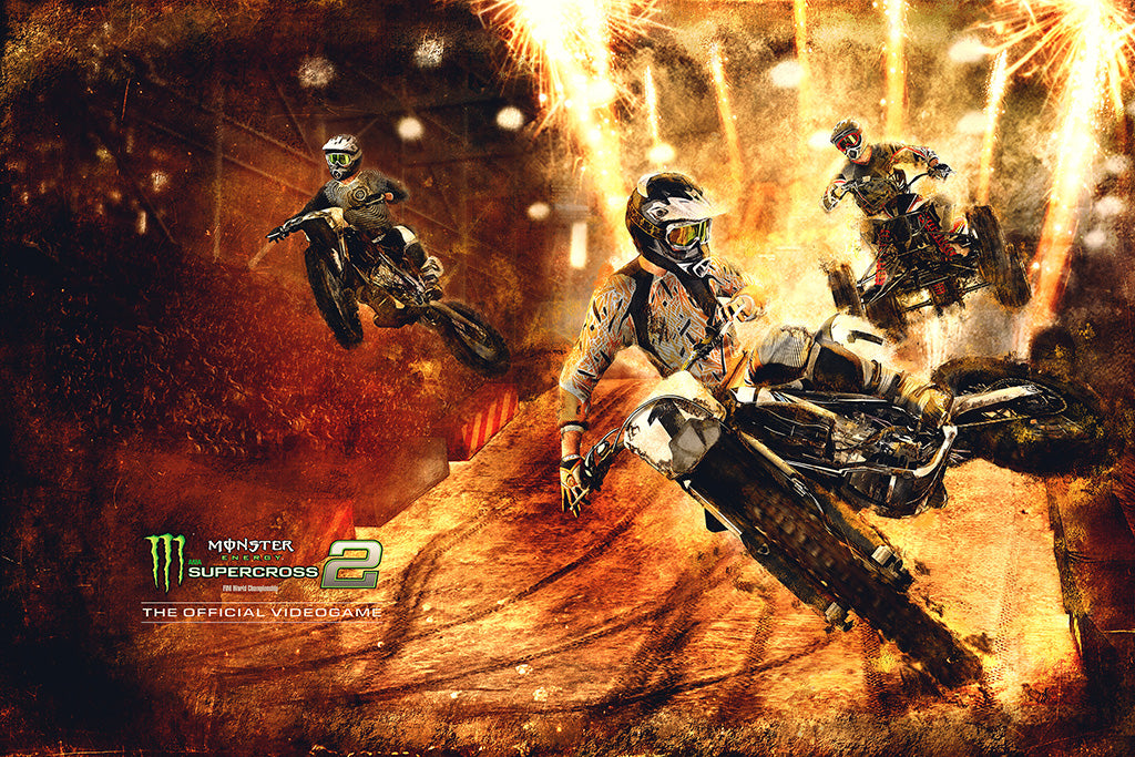 Monster Energy Supercross 2 Game Poster