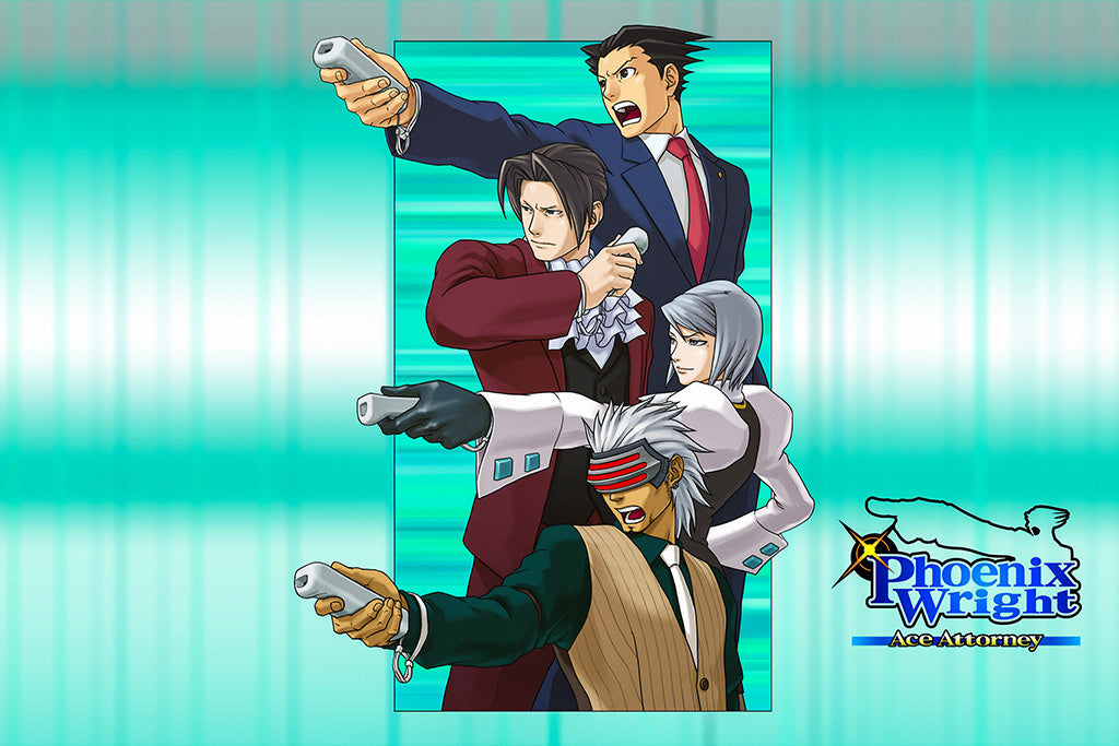 Phoenix Wright Ace Attorney Trilogy Game Poster
