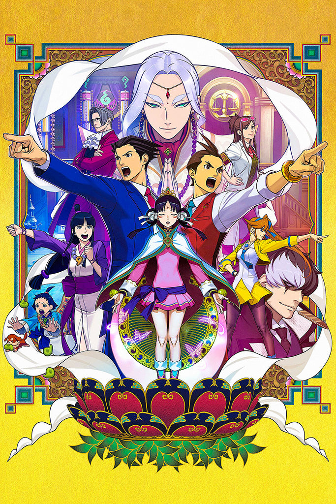 Phoenix Wright Ace Attorney Trilogy Video Game Poster
