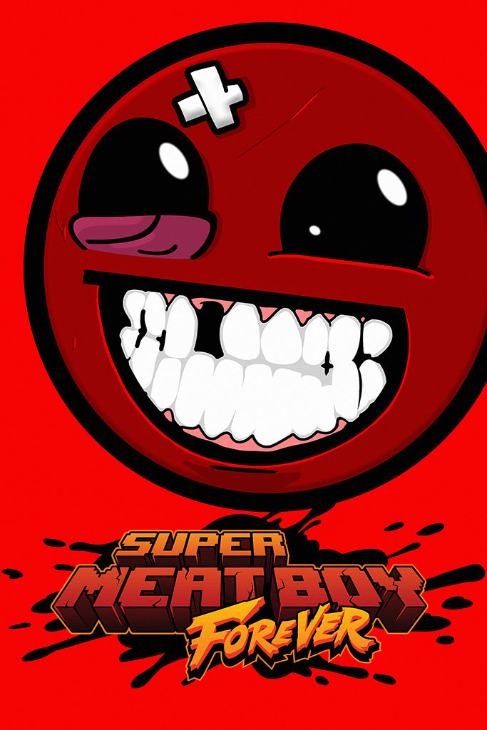 Super Meat Boy Forever Game Poster