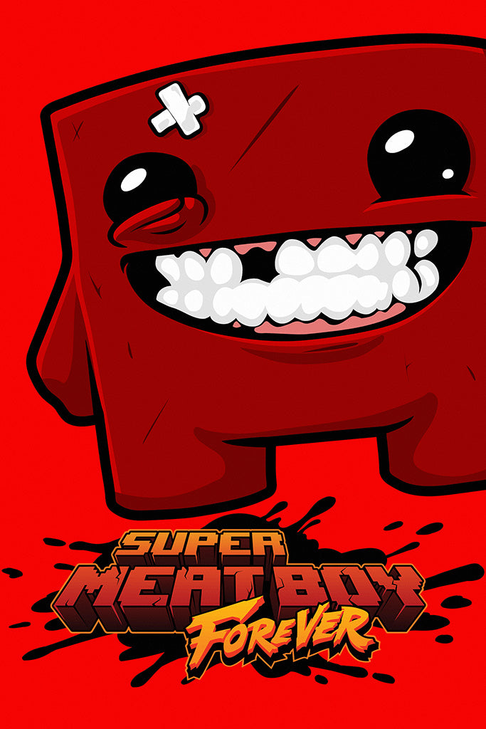 Super Meat Boy Forever Video Game Poster