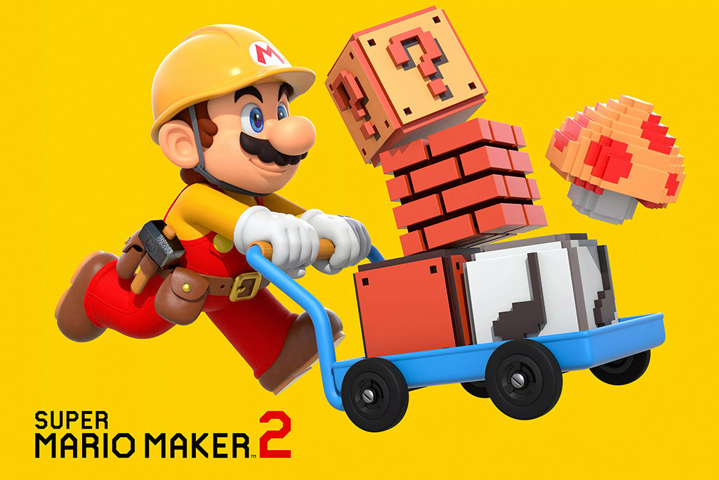 Super Mario Maker Game Poster