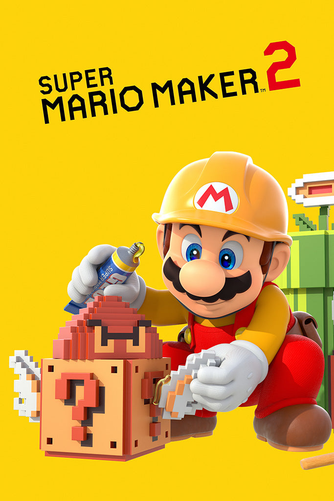 Super Mario Maker 2019 Video Game Poster