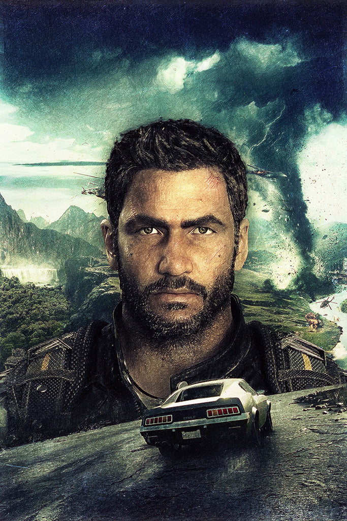 Just Cause 4 Los Demonios Game Poster