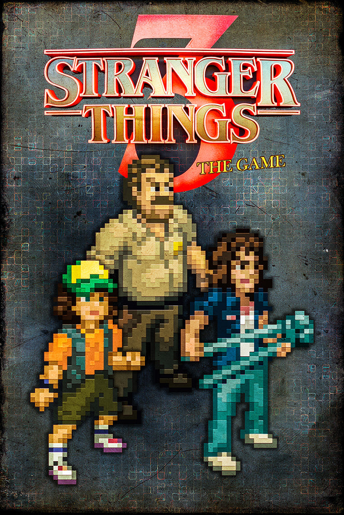 Stranger Things 3 The Game Poster