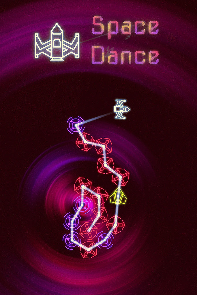 Space Dance Video Game Poster