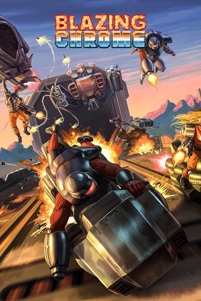 Blazing Chrome Game Poster
