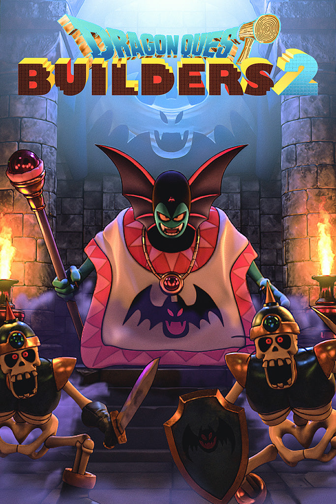 Dragon Quest Builders 2 Video Game Poster