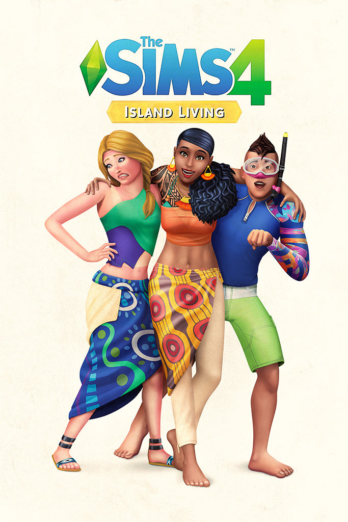The Sims 4 Island Living Expansion Game Poster