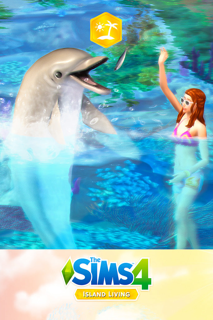 The Sims 4 Island Living Expansion Video Game Poster