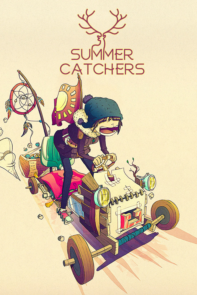 Summer Catchers Video Game Poster