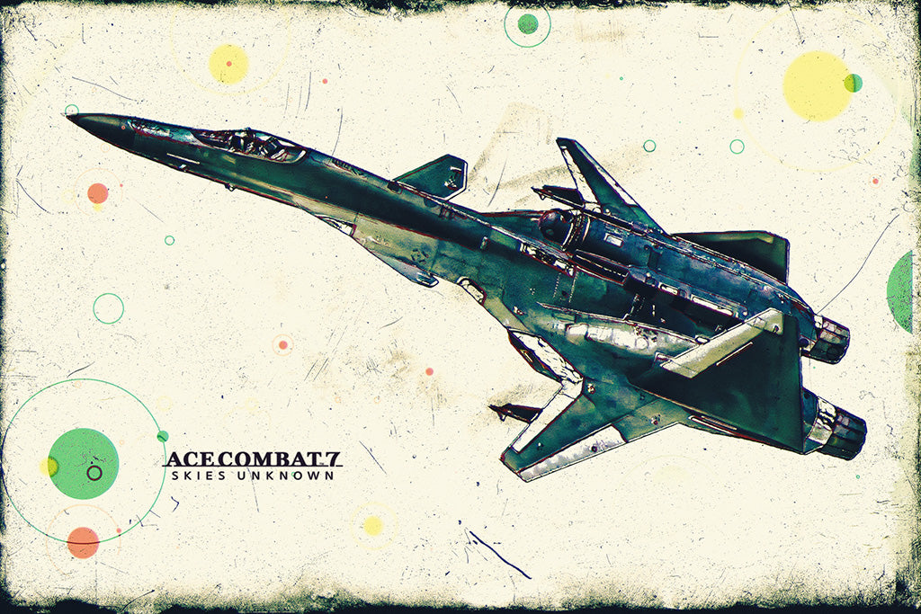 Ace Combat 7 Skies Unknown ADFX-01 Morgan Poster