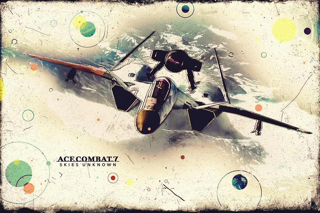 Ace Combat 7 Skies Unknown ADFX-01 Morgan Game Poster