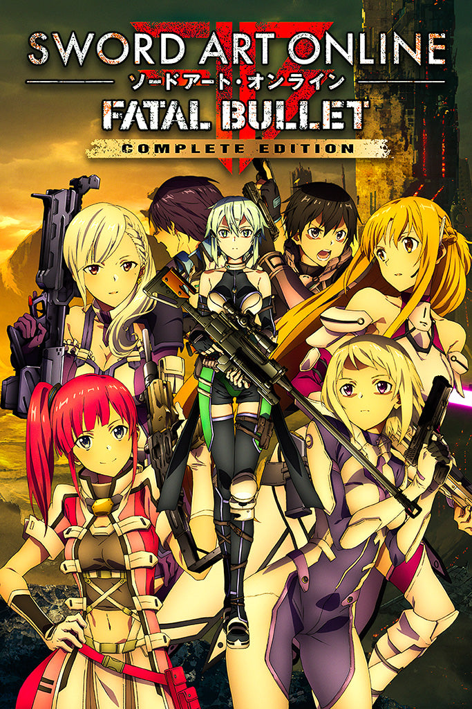 Sword Art Online Fatal Bullet Complete Edition Video Game Poster