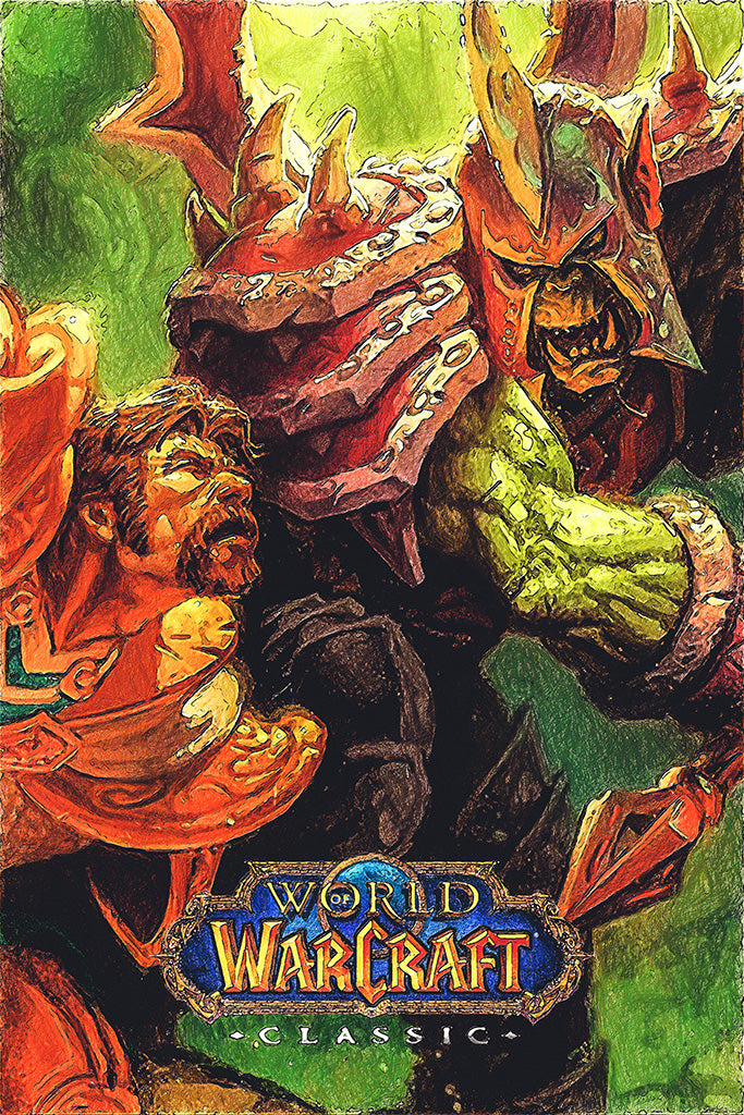 World of Warcraft Classic Game Poster