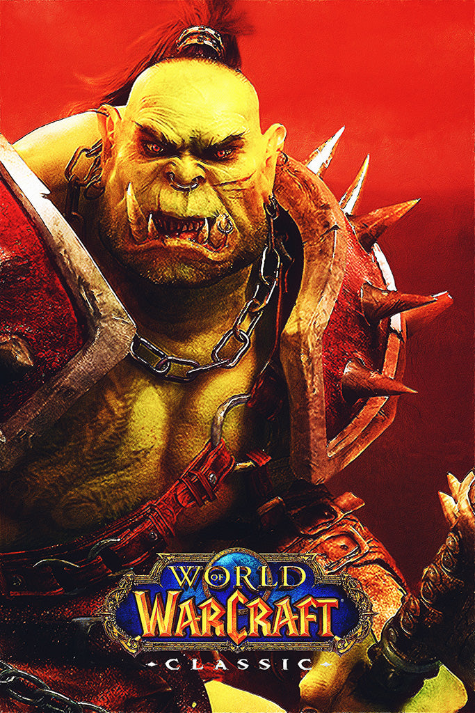 World of Warcraft Classic Video Game Poster