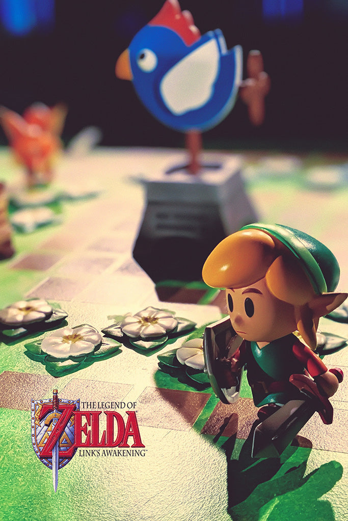 The Legend of Zelda Link's Awakening Game Poster